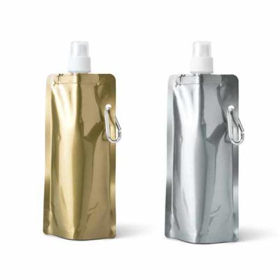 Ewox Promocional - Squeeze dobrável. PE. Capacidade até 460 ml. Food grade. 110 x 218 x 64 mm