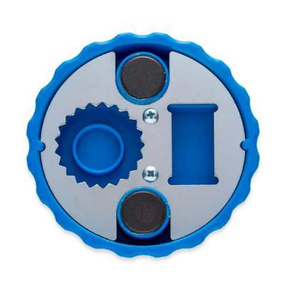 Ewox Promocional - Abridor de garrafa formato tampa com contorno circular em relevo, material plástico resistente com imã de geladeira. Parte traseira possui compartimen...