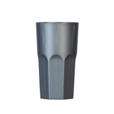 Ewox Promocional - Copo plástico 350ml simples com detalhes em relevo na parte inferior, inteiro colorido.