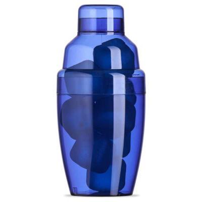 Ewox Promocional - Coqueteleira plástica 230ml com gelo ecológico. Material colorido translúcido, possui tampa de encaixe com peneira e tampa protetora para bocal da pen...