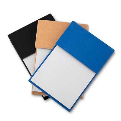 Ewox Promocional - Bloco de anotações ecológico com sticky notes. Capa colorida, possui 6 bloquinhos autocolantes coloridos com aproximadamente 20 folhas e bloco branco...