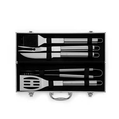 ewox-promocional - Kit Churrasco 5 peças com Maleta de Alumínio