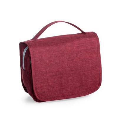 Ewox Promocional - Necessaire organizadora em tecido nylon Oxford, abertura frontal por velcro e alça superior, parte interna com gancho plástico; bolso interno superior...