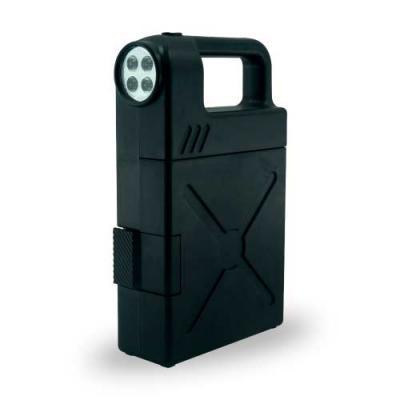Ewox Promocional - Kit ferramenta plástico com 24 peças e lanterna. Material plástico com alça, possui botão superior para ligar/desligar lanterna, trava de segurança, p...