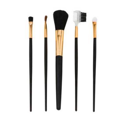 Ewox Promocional - Kit pincel com 5 peças em estojo plástico. Possui pincel para marcação, pincel para esfumar, pincel para blush, pincel pente sobrancelha e pincel para...