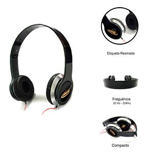 Ewox Promocional - O fone de ouvido MASTERSOM KIMASTER conta com tecnologia de cancelamento de ruído ativo que proporciona um som mais limpo e poderoso. Possui hastes qu...