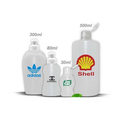 Frasco de Álcool em gel nos tamanhos 30ml / 80ml / 300ml e 500ml. Frascos p...