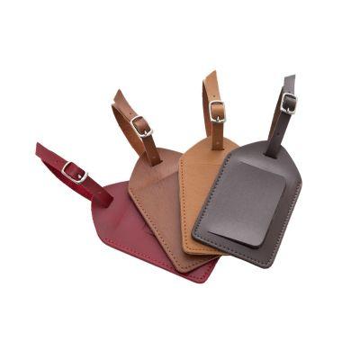 Couro Vip - Identificador de bagagem em couro.