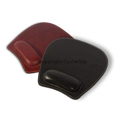 Couro Vip - Mouse Pad em couro legítimo ou sintético parte inferior em EVA com apoio ergonômico, todo pespontado - diversas cores. Dimensão: c 25,0 x l 23,0 cm