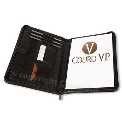 Couro Vip - Pasta convenção em couro.