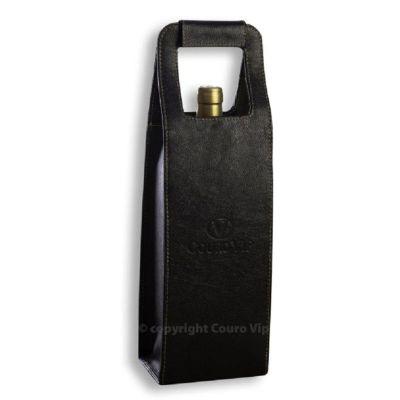 Couro Vip - Porta-vinho em couro.