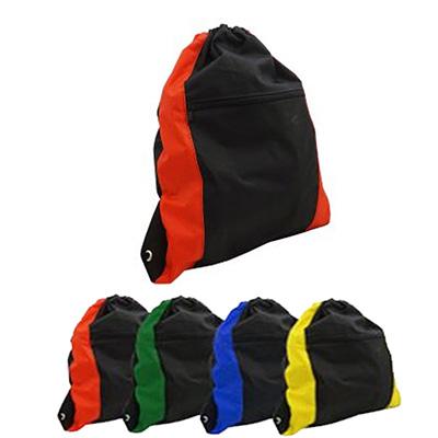 Fly Brindes - Mochila saco em nylon com duas faixas na lateral