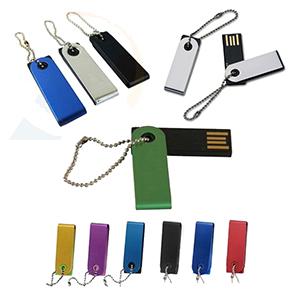 Fly Brindes - Pen Drive giratório com diversas cores e capacidade de 4gb e 8 gb.