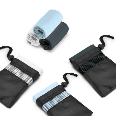 Fly Brindes - Toalha para esporte microfibra: 210 g/m², fornecida com bolsa em 190T. Medidas: 300 x 300 mm | Bolsa: 110 x 140 mm.