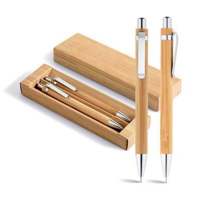 BrindeShop - Conjunto de Caneta e lapiseira em Bambu