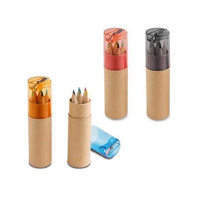 BrindeShop - Mini lápis e caixa - 6 mini lápis