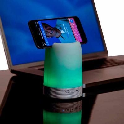 Arena Brindes Personalizados - Caixa de Som Multimídia com Porta Caneta e Luminária