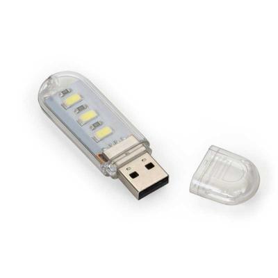 Arena Brindes Personalizados - Luminária Plástica USB com Led