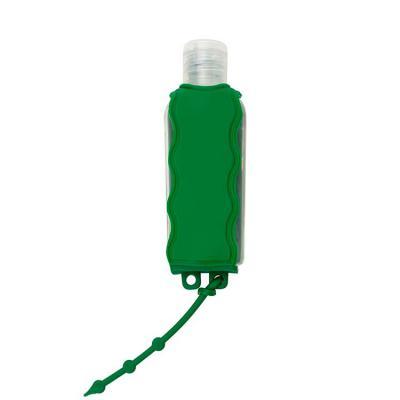 Luxus Comercial - Chaveiro porta álcool gel, material emborrachado com capacidade para frasco de 60ml. Incluso frasco de alcool de 60ml.