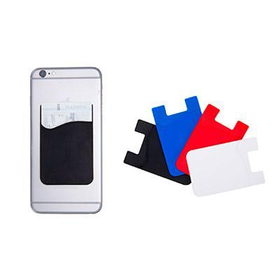 Luxus Comercial - Porta cartões para celular em PVC. Com autocolante. Medida: 56 x 89 x 1 mm.