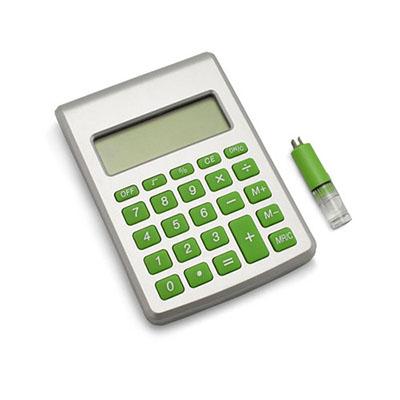 Luxus Comercial - Calculadora ecológica com 8 dígitos, movida a água