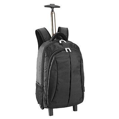 Luxus Comercial - Mochila importada, em nylon de alta qualidade, com rodinhas e porta notebook 15', tamanho:mochila 33x20x60cm