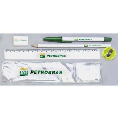 RF Canetas e Brindes - kit contendo caneta, lápis, régua,apontador, borracha ou monte seu kit. Acompanha envelope de PVC. impressão silk screen , impressão digital