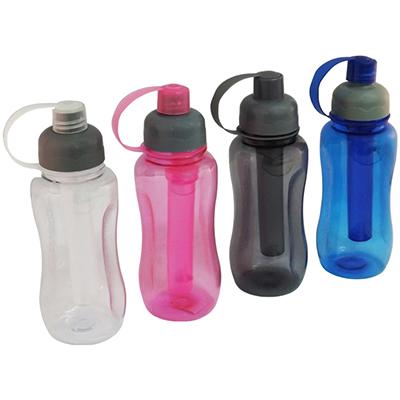 RF Canetas e Brindes - Squeeze de plástico resistente, para 400 e 600 ml, parte interna removível para congelamento, não acompanha água.