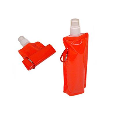 RF Canetas e Brindes - Squeeze dobrável com mosquetão e capacidade para 480ml