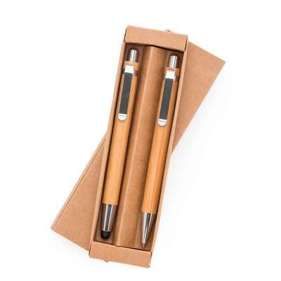 Amora Brindes - Kit ecológico caneta e lapiseira bambu