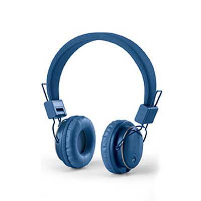Amora Brindes - Fone de ouvido dobrável. ABS. Ajustável. Com estrutura almofadada, transmissão por bluetooth e leitor de cartões TF. Autonomia até 4 h. Função para at...