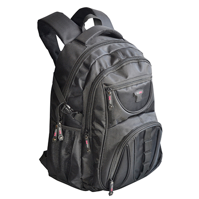 Amora Brindes - Mochila notebook com vários bolsos e porta acessórios com personalização.