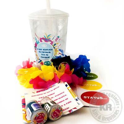 Kits & Requintes - Copo Twister (500ml) personalizado, contendo: 2 glitters, card com instruções de uso, adesivo Status (vermelho, amarelo e verde), 1 preservativo mascu...