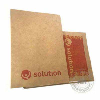 Kits & Requintes - Pasta Convenção kraft 280g personalizada. Abertura lateral, possui bolso interno e 25 folhas ecológicas 63gr de tamanho A4. Tamanho: 32 cm x 24,3 cm....