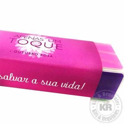 Kits & Requintes - Lixa Polidora Cubo personalizada com rótulo (medidas: 7,5cm L x 3cm Comp x 2,5cm Esp x 3g.): interior em espuma branca, com 4 faces coloridas para: 1)...