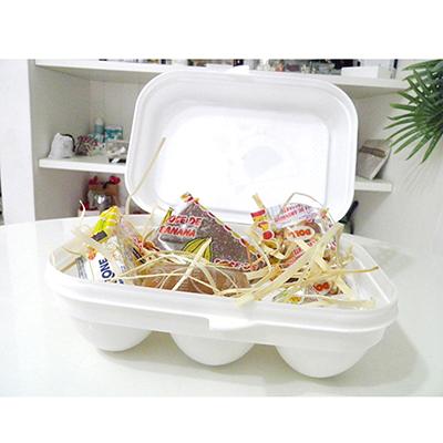 Kits & Requintes - Caixa de ovos personalizada e decorada com tecido