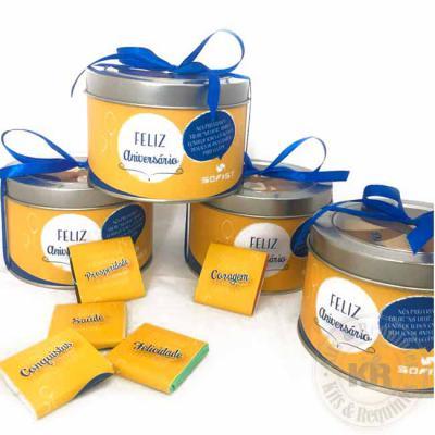 Kits & Requintes - Lata dos desejos com tabletes de chocolate