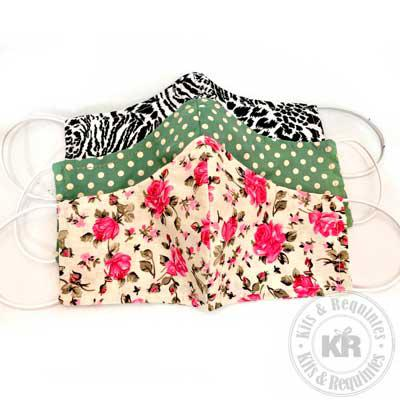 Kits & Requintes - Máscara em tecido tricoline com costura dupla