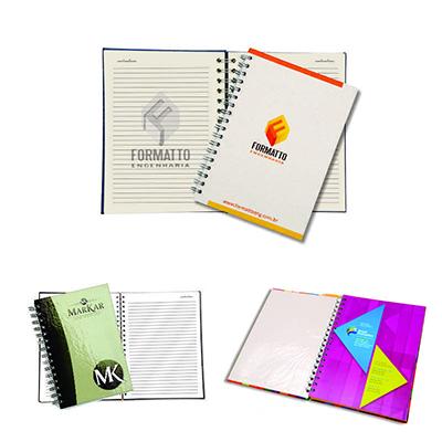 WDC Brindes - Caderno executivo com capa dura.