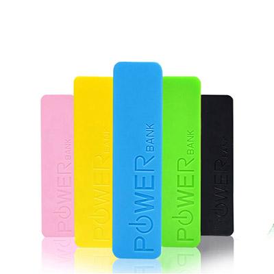 WDC Brindes - Bateria Power Bank 2600 mAh e 1 mini cabo USB.