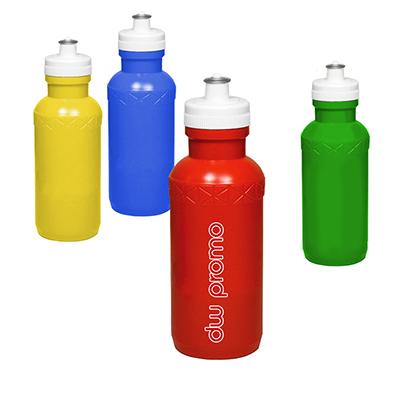 WDC Brindes - Squeeze com frasco e tampa de polietileno e válvula de pvc flexivel. Gravação de logomarca em silk screen ou tampografia
