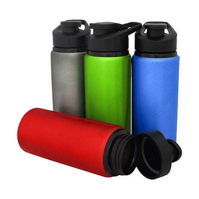 WDC Brindes - Squeeze de alumínio com tampa plástica de bico e capacidade para 600 ml.