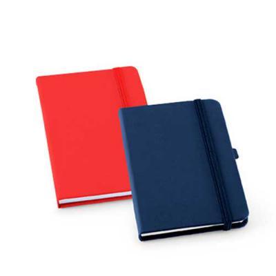 Ablaze Brindes - Caderneta com porta caneta, material couro sintético, 80 folhas, tamanho 14x9cm