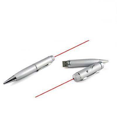 Ablaze Brindes - Caneta Pen drive personalizada com função laser, disponível 4 e 8 GB.