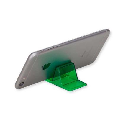 Ablaze Brindes - Suporte acrílico para celular. Altura :  2,8 cm Largura :  3,5 cm Comprimento :  5,9 cm