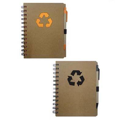 Ablaze Brindes - Bloco de anotação com caneta ecológicos.