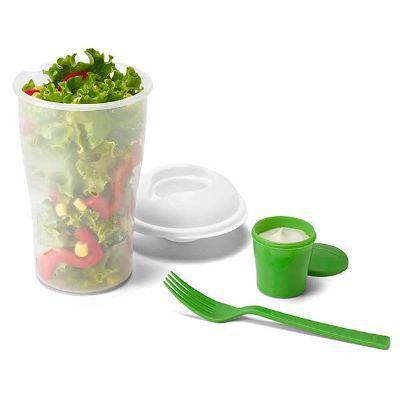 Ablaze Brindes - Copo para salada com garfo e molheira - 850 ml