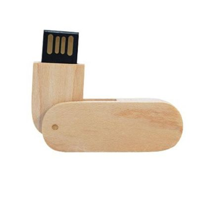 ablaze-brindes - Pen drive giratório de madeira