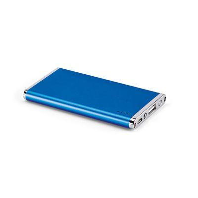 Link Promocional - Bateria portátil slim. Alumínio. Com lanterna. Bateria de lítio. Capacidade: 4400 mAh. Tempo de vida ≥ 500 ciclos. Com entrada/saída 5V/1A. Incl...