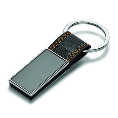 link-promocional - Chaveiro de couro sintético e metal.